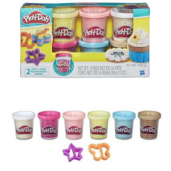 Play Doh Playdoh Confetti Compound Collection 6 Tubs, 2 tools 3+ Years
